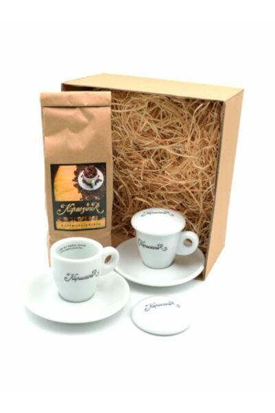Karácsonyi kávé csomag espresso csészével